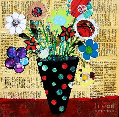Painting - Funky Flowers by Melinda Etzold