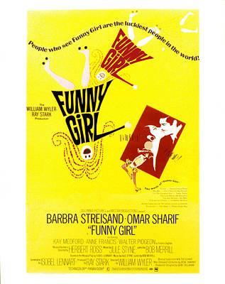Films By William Wyler Photograph - Funny Girl, Barbra Streisand, Omar by Everett