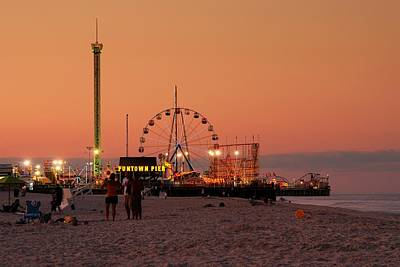 Photograph - Funtown Pier At Sunset I - Jersey Shore by Angie Tirado