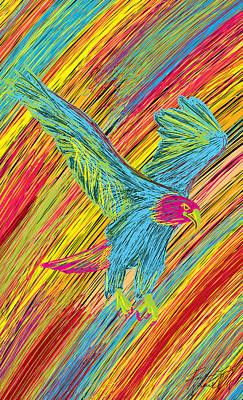 Furious Bold Bald Eagle Art Print by Kenal Louis