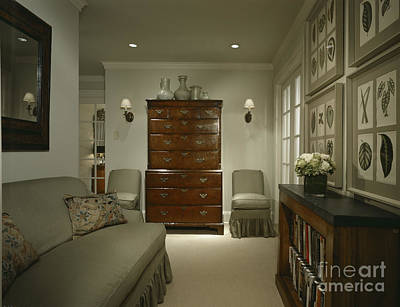 Furniture In Upscale Home Art Print by Robert Pisano
