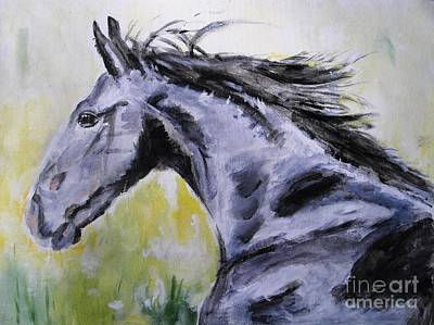 Horse Race Painting - Fury by Judy Kay