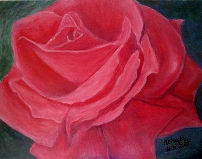 Painting - Fuschia Rose by Natascha de la Court