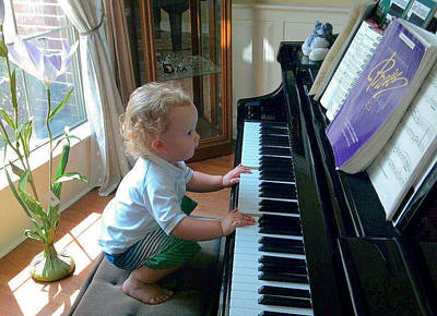 Photograph - Future Pianist by Diane Ferguson