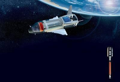 Future Space Shuttle, Artwork Print by Claus Lunau