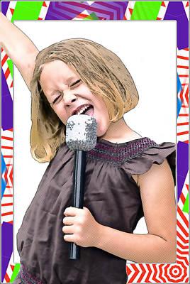 Future Star Sing It Girl Art Print by Susan Leggett