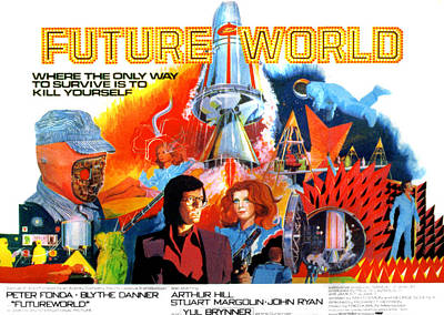 Futureworld, Center, From Left Peter Art Print by Everett