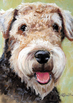 Terrier Painting - Fuzzy Was He by Mary Sparrow