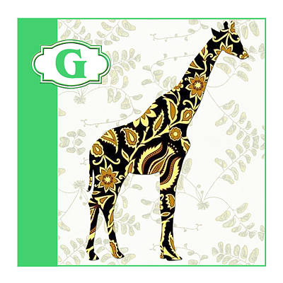 Education Painting - G Is For Giraffe by Elaine Plesser