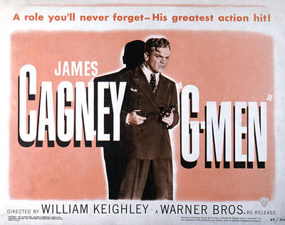 Posth Photograph - G-men, James Cagney, 1935 by Everett