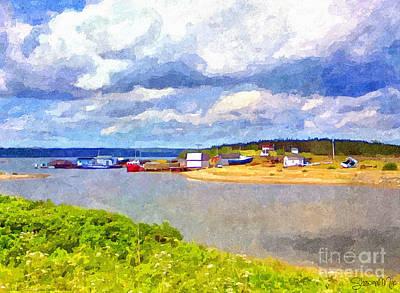 Gabarus Cape Breton Nova Scotia Fishing Village Art Print by Shawna Mac