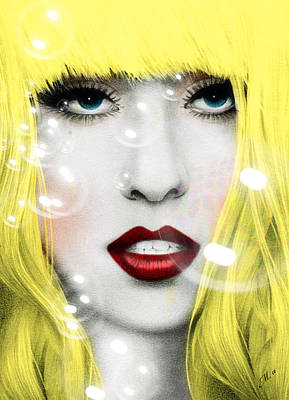 Abstract Digital Art Mixed Media - Gaga by Mark Ashkenazi