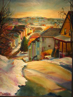 Painting - Gage Street In Winter by Sid Solomon