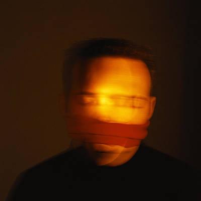 Autistic Photograph - Gagged Man by Cristina Pedrazzini