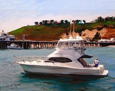 Malibu Painting - Gail Anne At Malibu Pier by Randy Sprout
