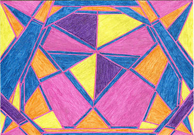 Drawing - Galactic Awareness by Lesa Weller