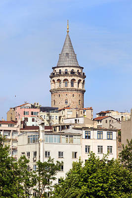 Galata Tower In Istanbul Art Print by Artur Bogacki