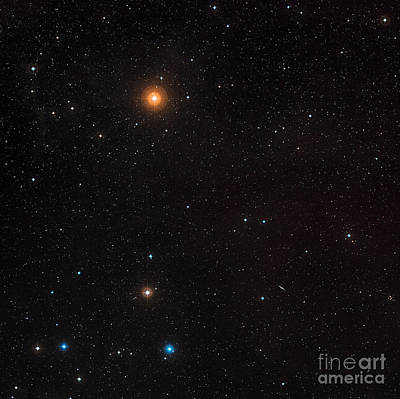 Digitized Photograph - Galaxy Cluster by ESA/Science Source