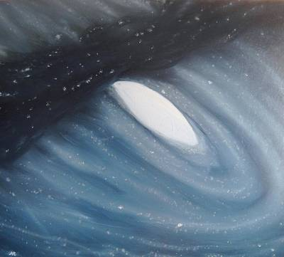 Cosmos Painting - Galaxy Collision - Andromeda by Nicla Rossini