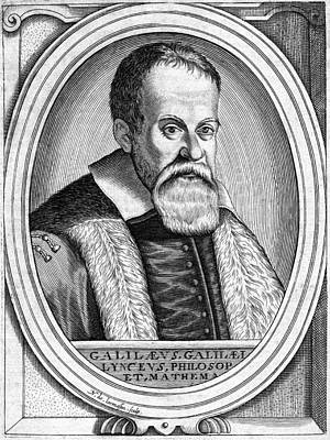 Galileo Galilei, Italian Astronomer Art Print by Chris Hellier