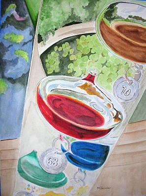 Art Print featuring the painting Galileo Thermometer by Mary Kay Holladay