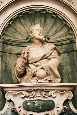 Statue Portrait Photograph - Galileo's Tomb, Florence, Italy by Sheila Terry