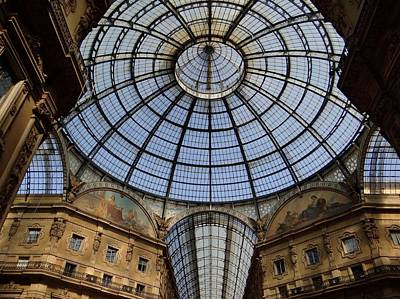 Photograph - Galleria Dome by Keith Stokes