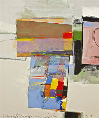 Painting - Gallery Jumble -three Small Studies by Cliff Spohn