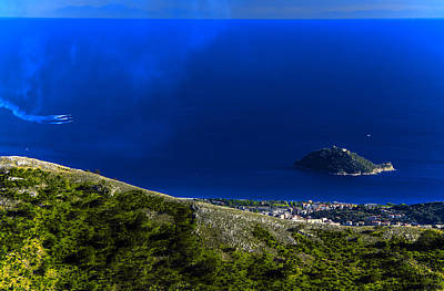 Photograph - Gallinara Island And Coast With Air Show by Enrico Pelos