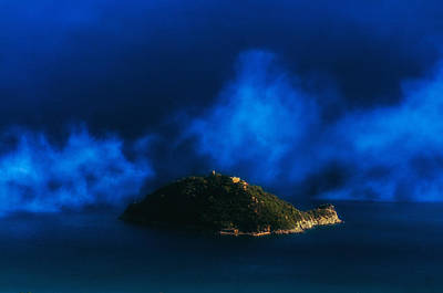 Photograph - Gallinara Island Foggy Day by Enrico Pelos