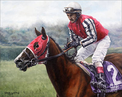 Horse Racing Painting - Galloping Back by Thomas Allen Pauly