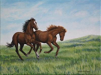 Galloping Horses Art Print by Penny Birch-Williams