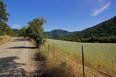 Galls Creek Road In Southern Oregon Art Print by Mick Anderson