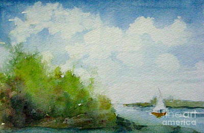 Painting - Galt's Ferry Yacht Club Marina by Gretchen Allen