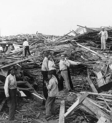 Photograph - Galveston Disaster - C 1900 by International  Images