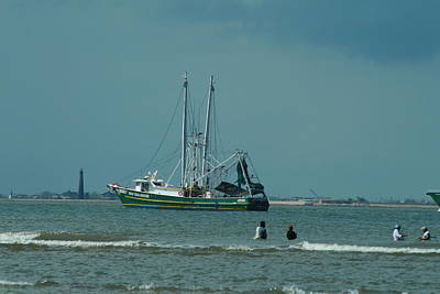 Photograph - Galveston Fishing by Cheryl Perin