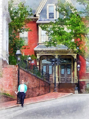 Gamaliel Dwight House Providence Ri Art Print by Susan Savad