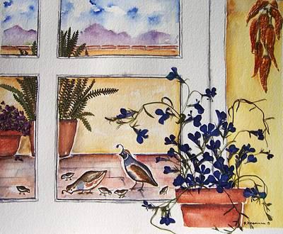 Painting - Gambel's Quail by Regina Ammerman