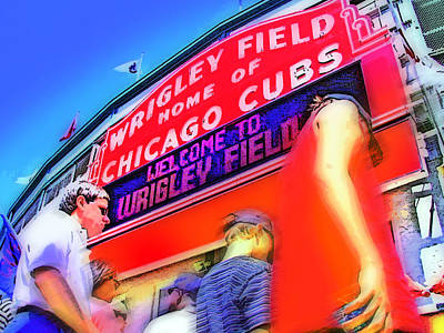 Wrigley Field Digital Art - Game Day One by Brian Gregory