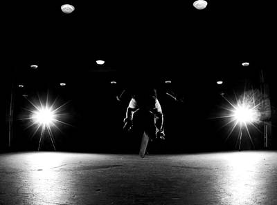 Strobe Photograph - Game Of Skate by Cale Best