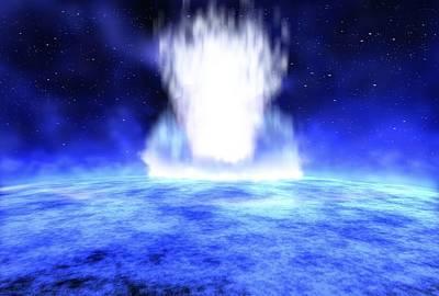 Jet Star Photograph - Gamma Ray Burst Eruption by Nasa