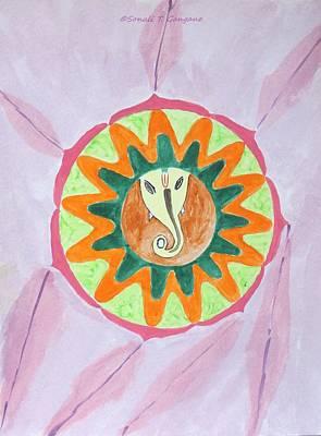 Ganesh Mandala Art Print