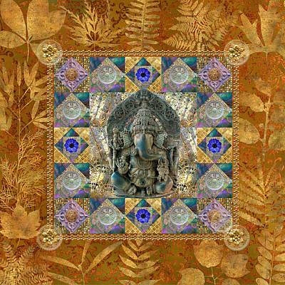 Brass Leafs Digital Art - Ganesha Dazzle by Susan Ragsdale