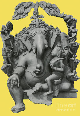 Ganesha, Hindu God Art Print by Photo Researchers