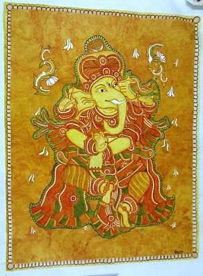 Lord Ganesha Painting - Ganesha Mural by Amrutha