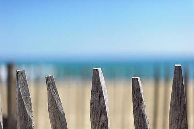 Ganivelles At Ste Maxime Beach, Golfe De St-tropez Art Print by Alexandre Fundone