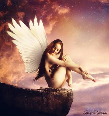 Rock Angels Digital Art - Gardaziel by Jennifer Gelinas