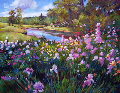 Painting - Garden Along The River by David Lloyd Glover