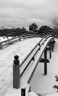 Photograph - Garden Bridge In Winter by David Bearden