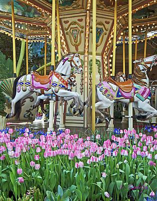Photograph - Garden Carousel by Cheri Randolph